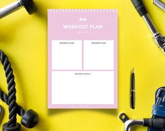 Dusty Rose Weekly Workout Planner - Digital Download Printable