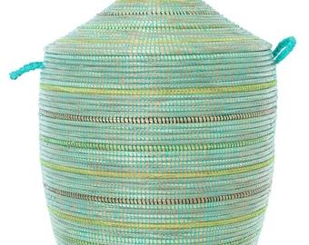 Seaside Stripes Large Laundry Hamper Basket