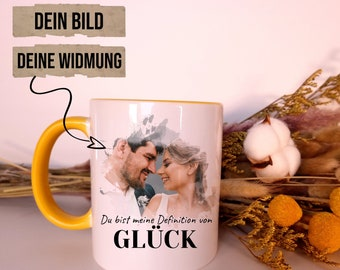 Couple cup with your picture and dedication - personalized / anniversary gift / Valentine's Day or just like that / couple cup