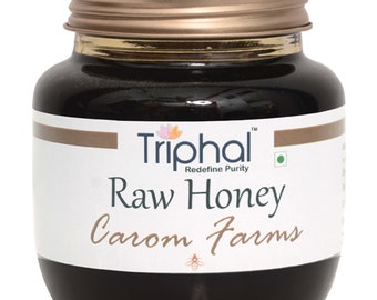 Carom (Ajwain) Honey By Triphal (360g) | Raw Honey | Non Heated | Non Processed | 100% Natural