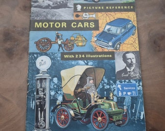 Motor Cars, Picture Reference Booklet - First Edition; Published by Brockhampton Press in 1967