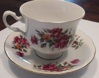 Queen Anne rosabel Tea cup and saucer
