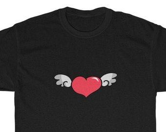 Winged Heart design cotton tee