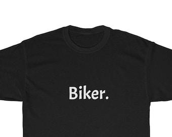 Biker Heavy Cotton Tee - Awesome biker t-shirt