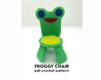 Froggy Chair Amigurumi Crochet Pattern (Animal Crossing) - PDF - English