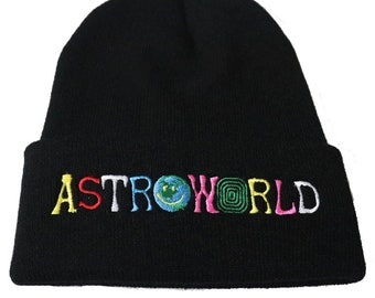 Astroworld Knitted Hat Embroidery Beanie Unisex