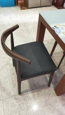 Solid wood dining chair desk chair household horn chair Nordic meeting office stool backrest restaurant chair