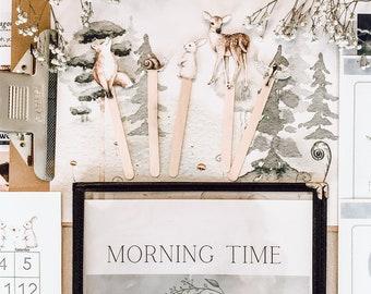 Morning Time Menu- Full year (woodland theme)