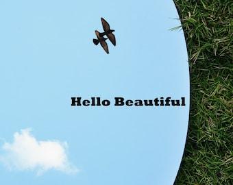 Hello Beautiful Vinyl Decal