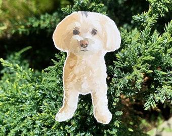 Cute Dog Sticker, Hydro Flask Sticker, Laptop Sticker, Bujo Sticker, Mirror Sticker, Kid's Birthday, Birthday Gift, Christmas Gift