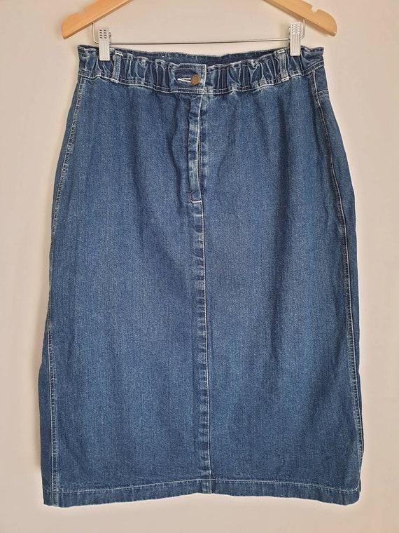 Mid-length denim skirt by Christopher John Melbou… - image 2