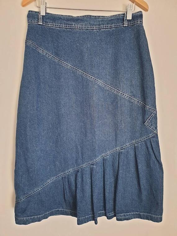 Mid-length denim skirt by Christopher John Melbou… - image 1