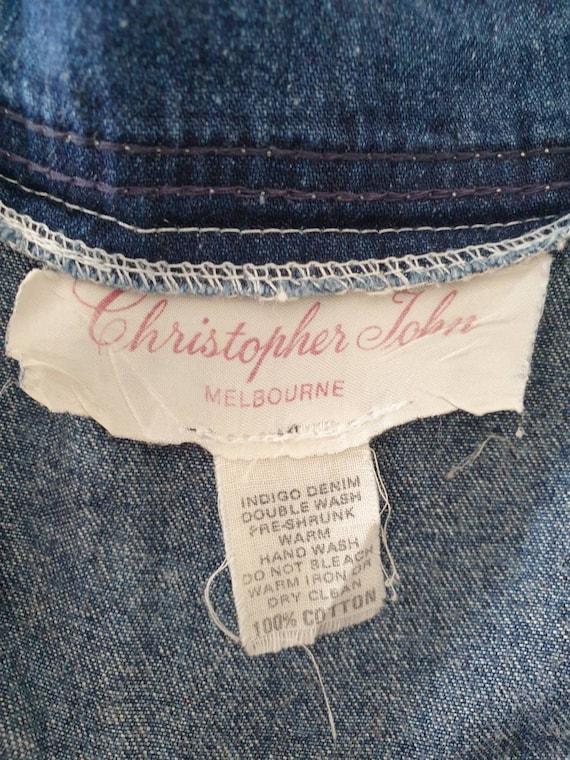 Mid-length denim skirt by Christopher John Melbou… - image 3