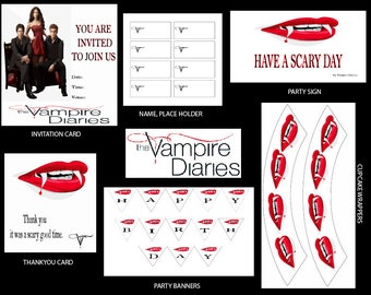 THE VAMPIRE DIARIES Wall Collage Kit The Vampire Diaries Wall Decor The Vampire Diaries Photo Collage Kit Tvd 100 pictures