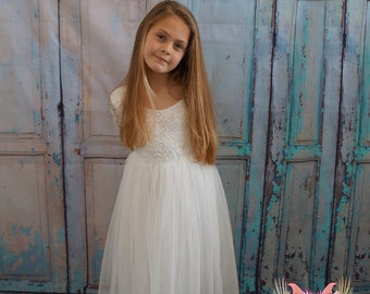 Mary-Jane in White ~  Flower Girl | Party Dress