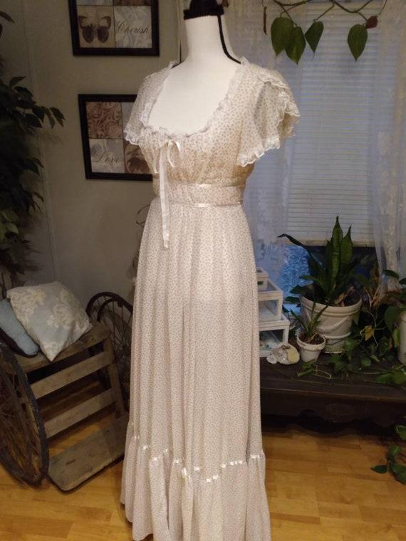 Gunne Sax Nightingale Prairie Dress. Ditsy Floral… - image 6