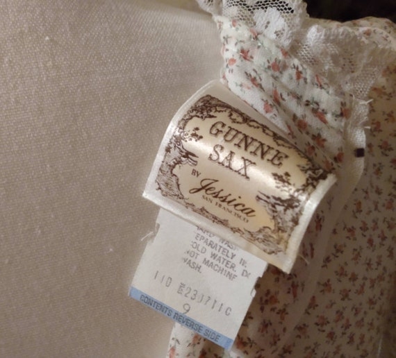 Gunne Sax Nightingale Prairie Dress. Ditsy Floral… - image 3