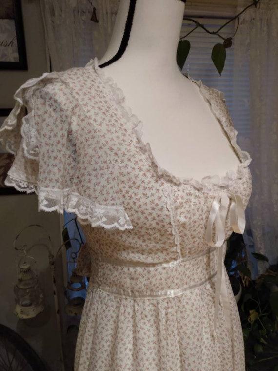 Gunne Sax Nightingale Prairie Dress. Ditsy Floral… - image 1