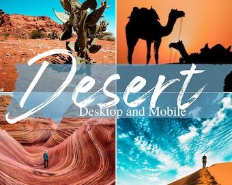 10 Sahara Desert Lightroom Presets for Desktop and Mobile. Includes Presets for People, Camel, Safari, Sand, Land Dust, Plant and Morocco.