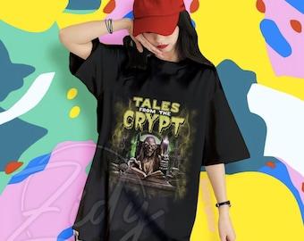 TALES From The CRYPT Shirt, Cool Shirt, Rocker Shirt, Halloween Shirt, Halloween Shirt, Retro Halloween Shirt