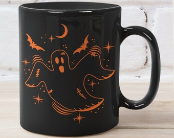 Ghost Mug or Little Haunt Coffee Mug, unique Halloween mug that's a perfect Halloween gift, best friend gift, or fall gifts.