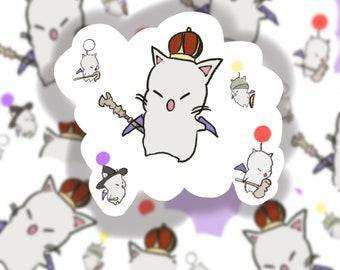 King Moogle FFXIV sticker | Final Fantasy inspired | gaming sticker