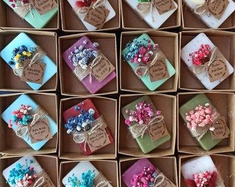 Vegan personalized Soaps, Wedding guest gifts, Bridal shower favors, Handmade scented soaps, Super Cute gift idea, Wedding guest gifts bulk