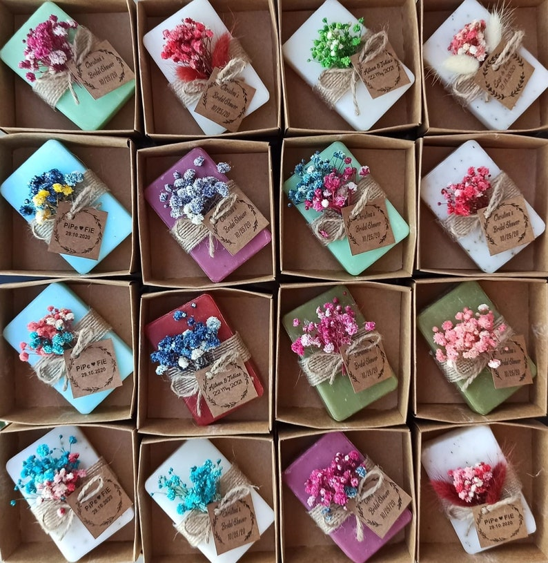 Vegan personalized Soaps Wedding guest gifts Bridal shower image 0