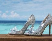 Designer inspiration ladies wedding shoes, high heels
