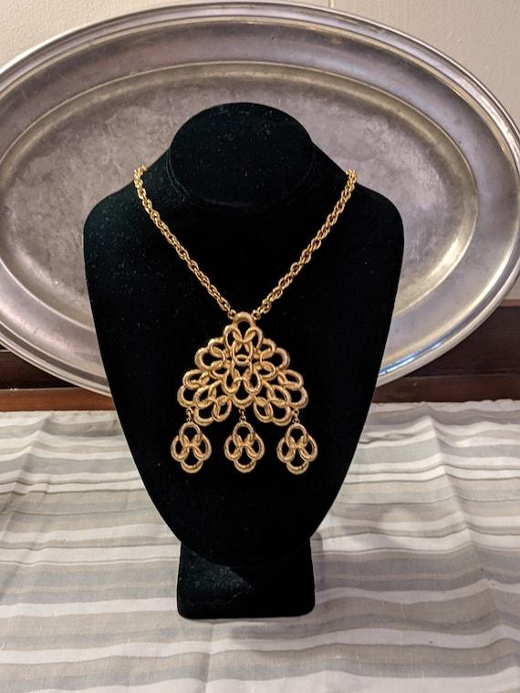 Vintage Gold Tone Costume Necklace