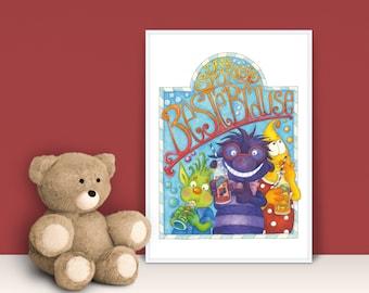 Children's Room Poster A4 · Dr. Spürkel's Best Shower · Picture Baby Room Children's Poster