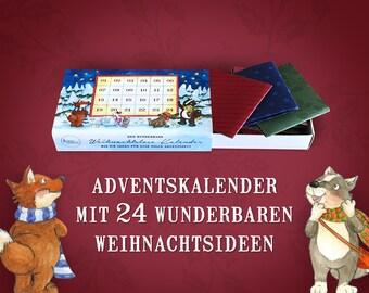 Advent Calendar 24 Christmas Lots · Animals · 11 x 6.5 x 2.1 cm · Christmas Advent Loose Ideas Tasks Inspiration Forest Animals
