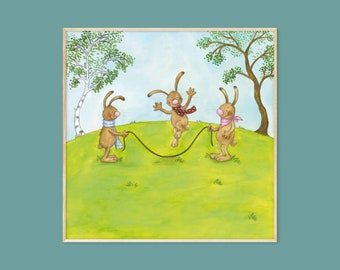 Spring Poster Children's Room Picture 20 x 20 cm