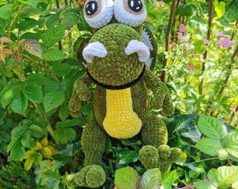 Hand crochet dragon