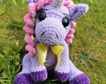 Hand crochet unicorn