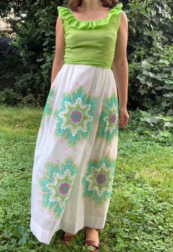 Vintage 1970s Alfred Shaheen Printed Maxi Dress - image 2
