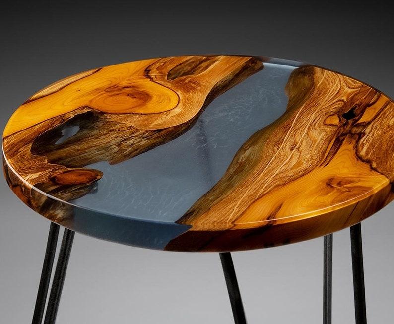 Walnut Round Coffee Table