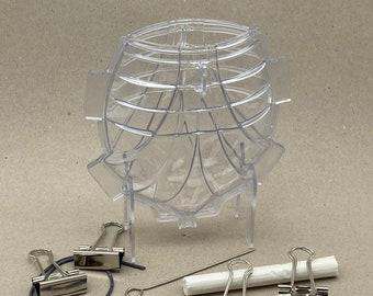 Candle casting mould fan flowers - casting mould two-piece, W115mm x D50 x H140mm