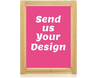 Pre-burned silk screen, DIY Silk screen printing, Custom Screen Printing Frames, Custom Silk Screen Printing Frames,  Use your own artworks