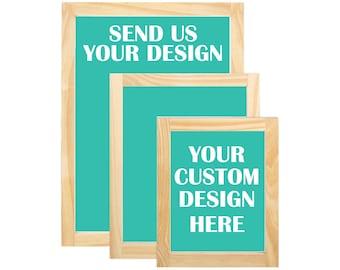 DIY Silk screen printing, Custom Screen Printing Frames, Custom Silk Screen Printing Frames,  Use your own artworks