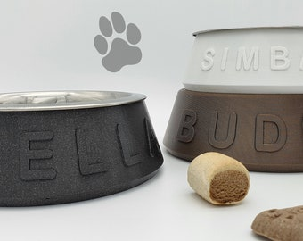 Personalized feeding bowl / dog bowl incl. stainless steel bowl and anti-slip pimples