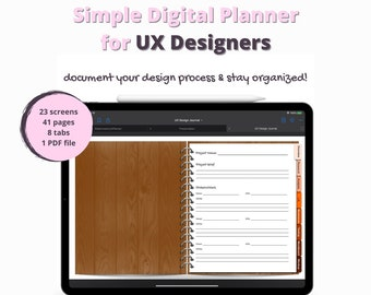 Digital UX Design Planner for iPad   Document Your Design Process