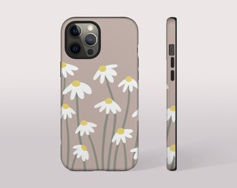 Daisy Phone Case, Floral Samsung Galaxy Case, Boho iPhone Case for XS XR 12 Pro 12 Mini iPhone 11 Pro Max