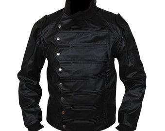 Mens Black Leather Jacket Hand Made Real Leather Top Stand Collar Jacket For Men   Real Black Jacket Leather   Man leather vest