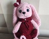 Bunny Crochet Plush Rabbit Girl. Amigurumi