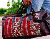 Travel bag, Moroccan bags unisex, Moroccan leather bags, Moroccan handmade bags,unique travel bag, unisex travel bag, handmade