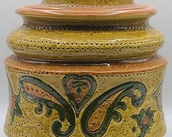 Vintage Bitossi Lidded Ceramic Vase