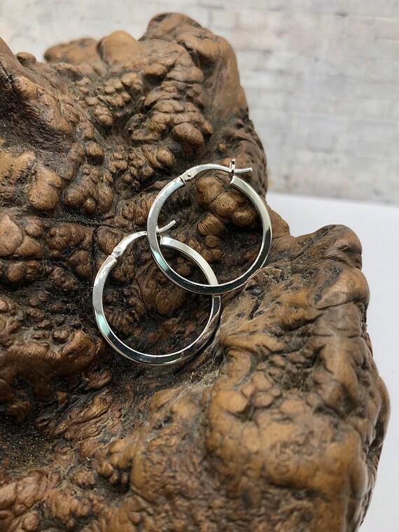 Minimalist 925 Sterling Silver Small Hoop Earrings