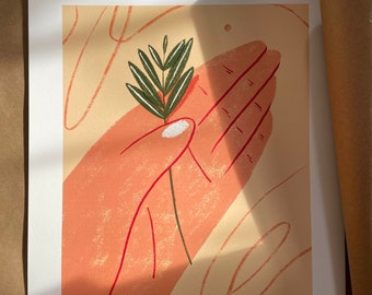 Prospect Park Finds - Illustration - Art - Art Print - Digital - Painting - Artwork - Wall Decor - Wall Art - Small Print - Large Print