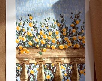 Somewhere in Northern Italy - Illustration - Art - Art Print - Digital - Painting - Artwork  - Wall Art - Small Print - Large Print